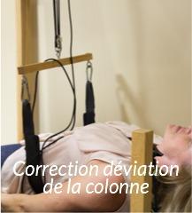 Correction déviation de la colonne